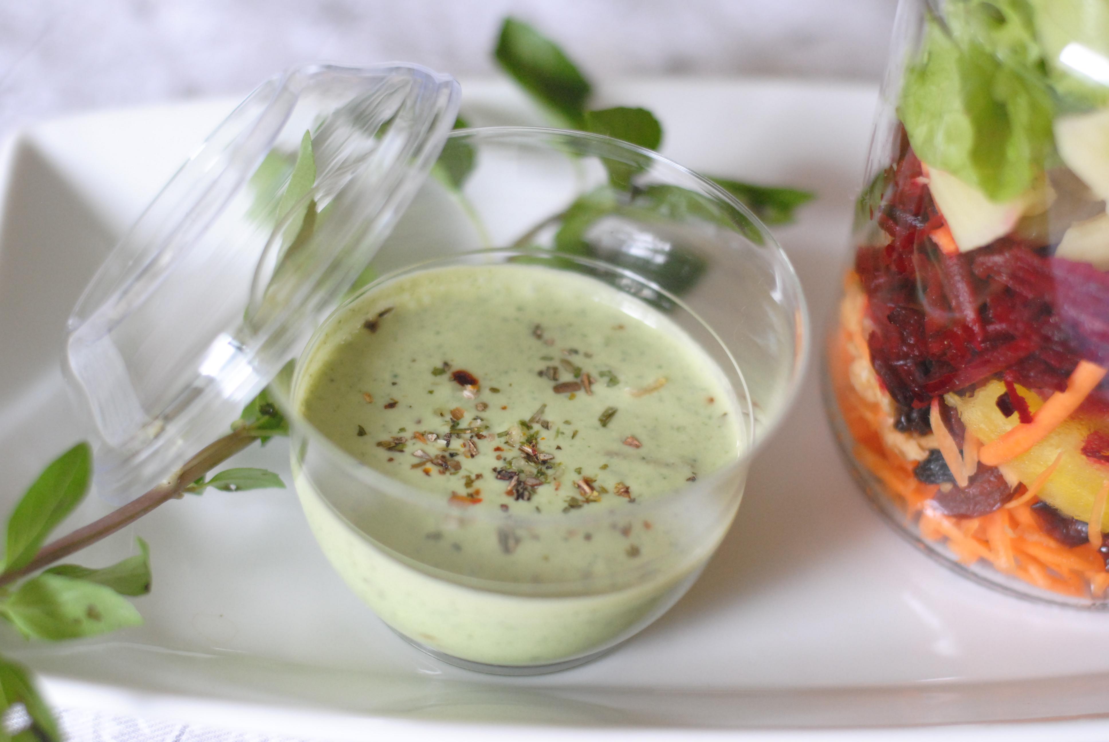 molho verde para fast food saudável