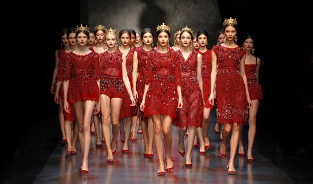 Vá de vestido vermelho