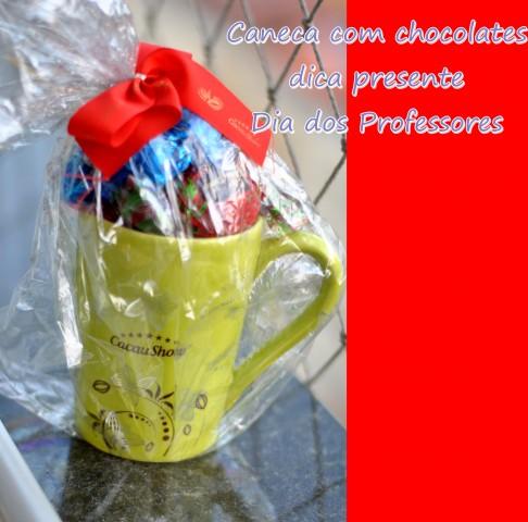 Chocolate Cacau Show presente para professor