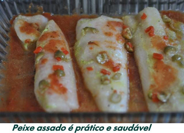 Alternativa Saúde com peixe assado