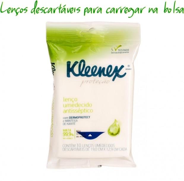 Higiene pessoal com lenços descartáveis