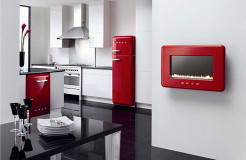 Toque de cores na cozinha com vermelho