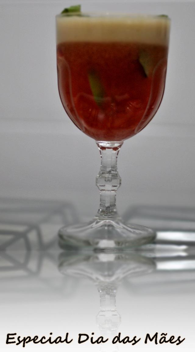 Soft Drink com morangos