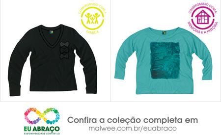 Camisetas de lixo reciclado da Malwee