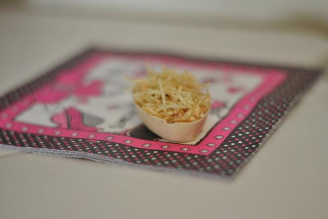 canapés simples com recheio de salpicão