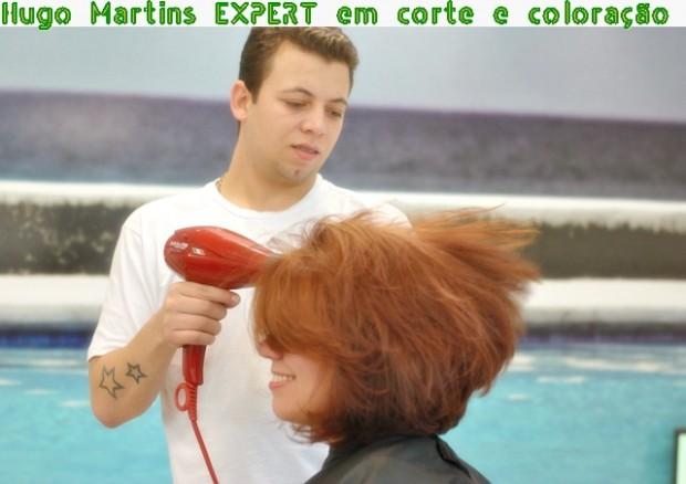 Corte de cabelo e hidratação capilar com Hugo Martins