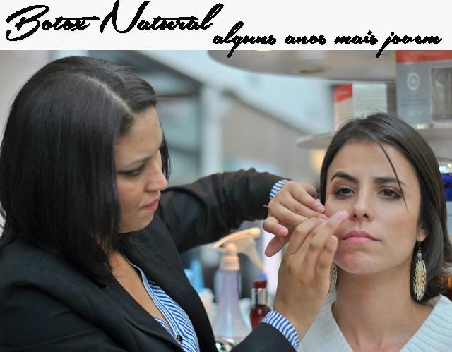 Botox natural com produtos de luxo