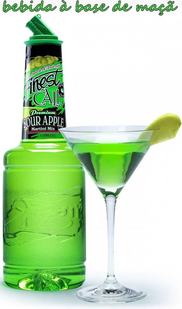 Sour apple para receitas de bebidas simples e especiais