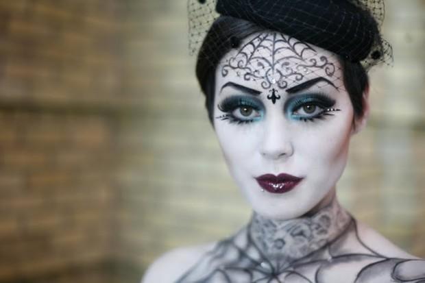 dica de maquiagem luxo Halloween