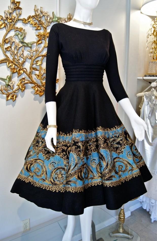 vestido estilo vintage ou retrô