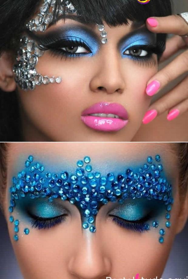 inspiração de maquiagem para carnaval