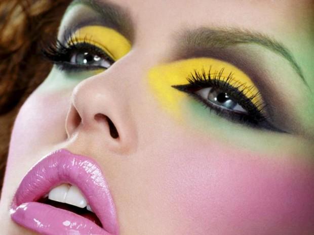 maquiagem verde e amarelo COPA 2014 É BELEZA