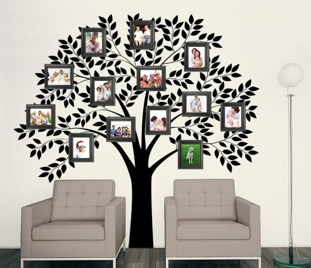 Adesivo árvore com mural para fotos para decorar