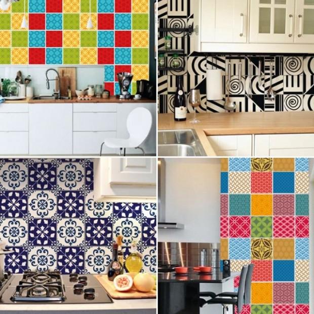 Na cozinha parede decorada