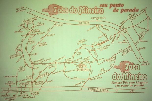 Mapa para São Bento do Sapucaí