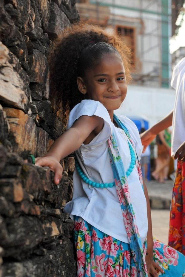menina meninas do Maracatu Lua Nova em carnaval Ouro Preto