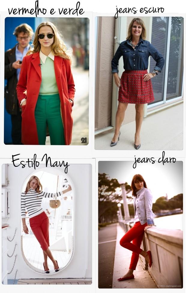 vermelho e branco ou verde