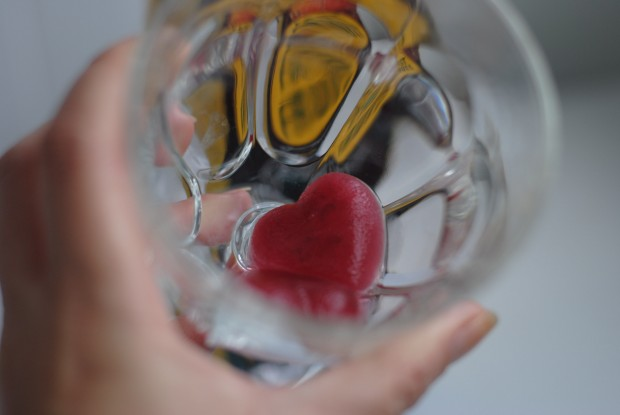 copo com gelo decorado