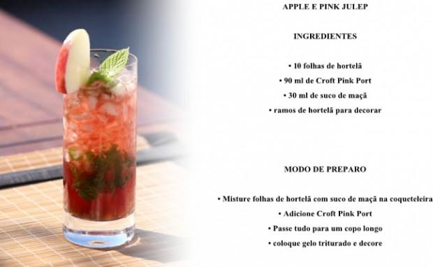 Bebidas com vinho tinto - Apple e Pink Julep