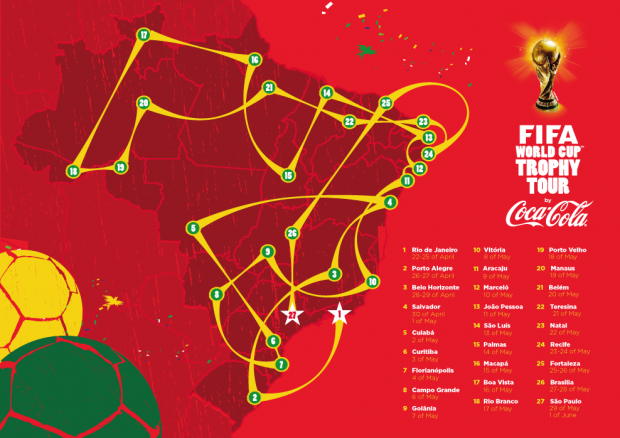 Tour da Taça da Copa do Mundo está em BH