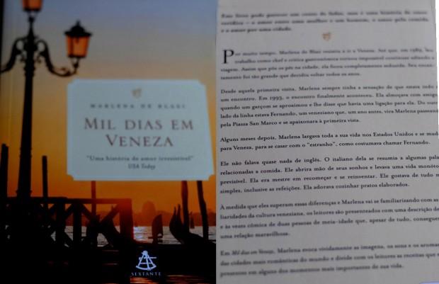Ler é viajar com Mil dias em Veneza