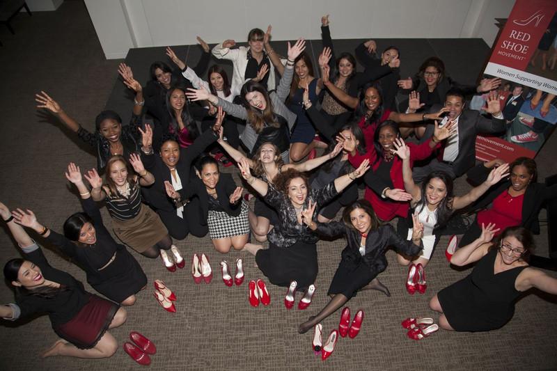 viva o sapato vermelho