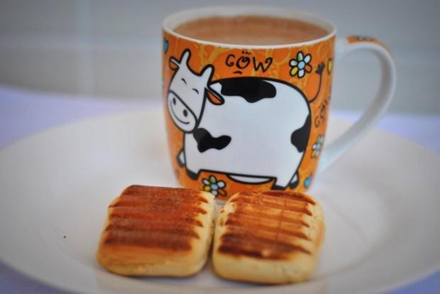 Café da manhã do palavras em fotos