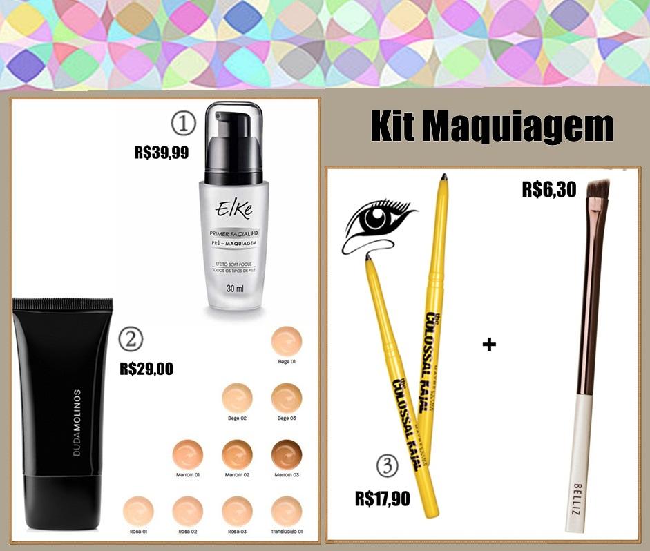 kit básico de maquiagem
