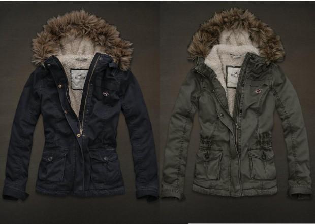 blusa de frio da Hollister no inverno