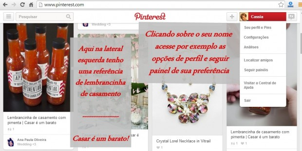 Criar Pinterest sobre lembrancinhas de casamento