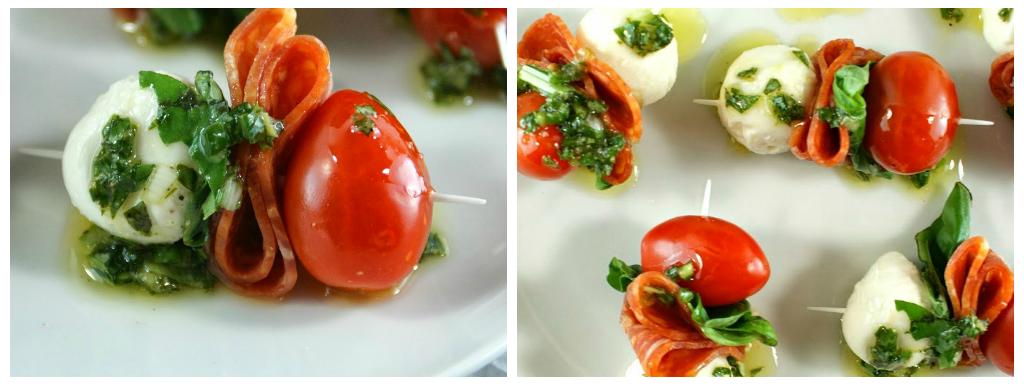 canapés com tomatinho para dia dos pais