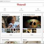 Criar Pinterest e painel de fotografia