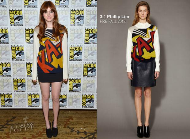 Marvel Comics print em roupas
