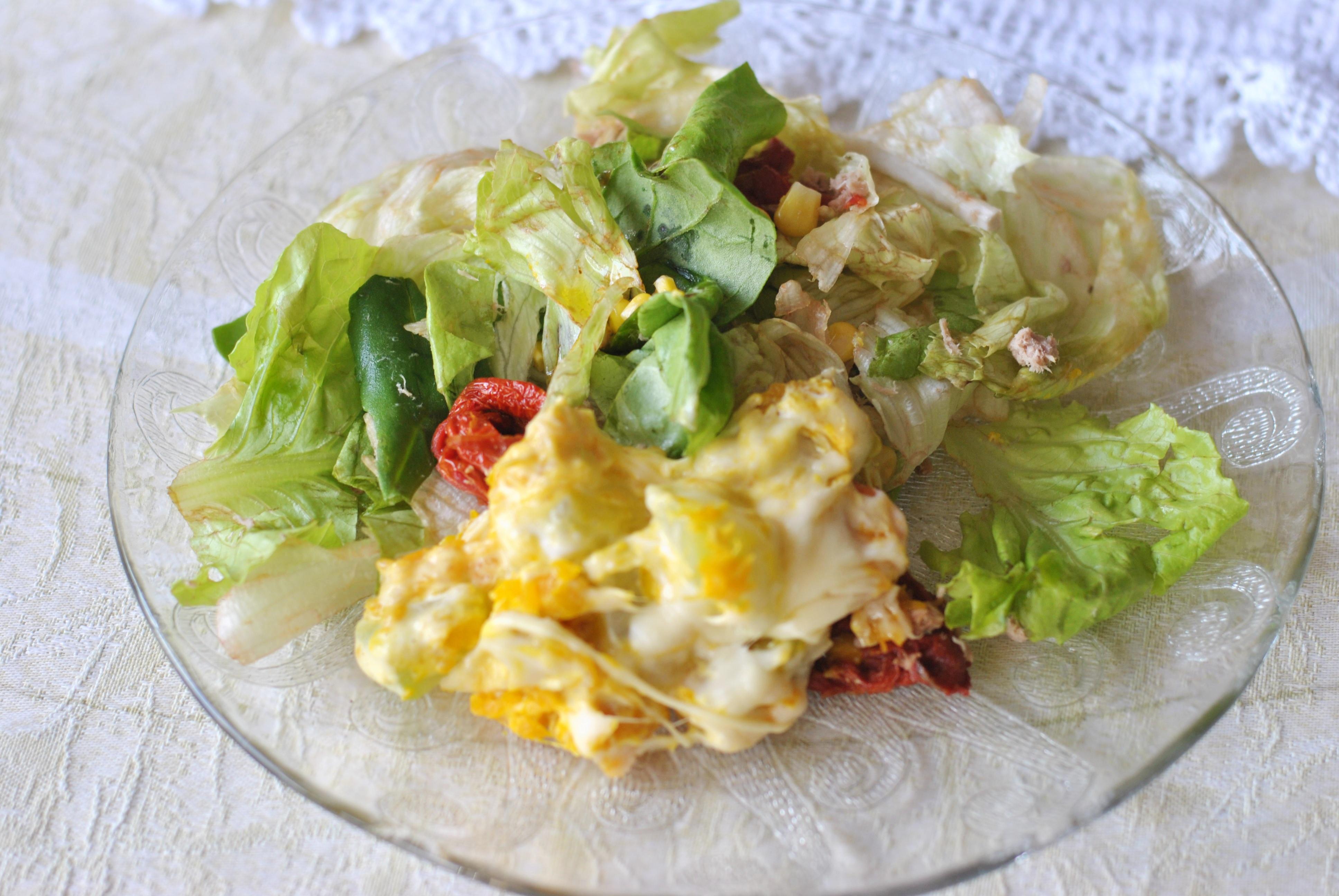 receita prática com queijo e legumes