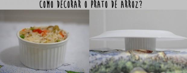 como decorar o prato de arroz de forno