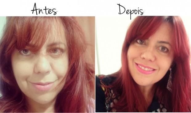 Antes e depois cabelos ruivos Magic Red
