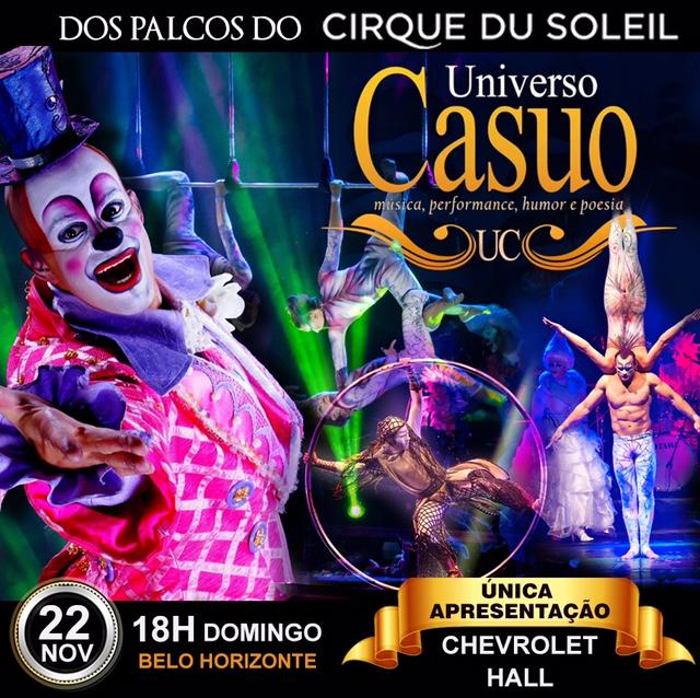 Dos palcos Cirque Du soleil, espetáculo em BH