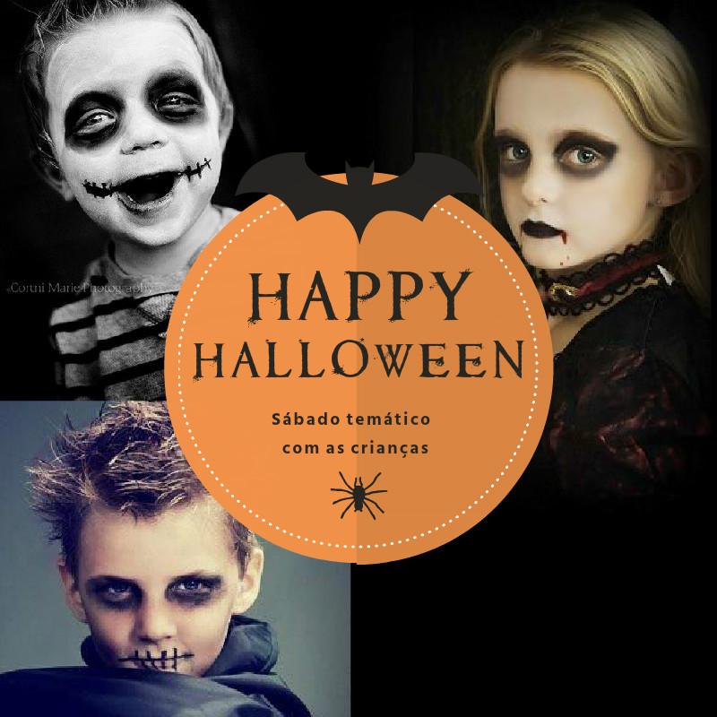 Sábado de Halloween com as crianças