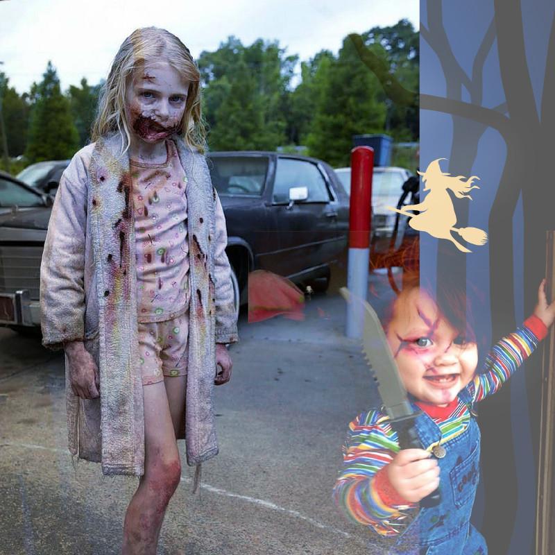 crianças no dia das bruxas ou Halloween