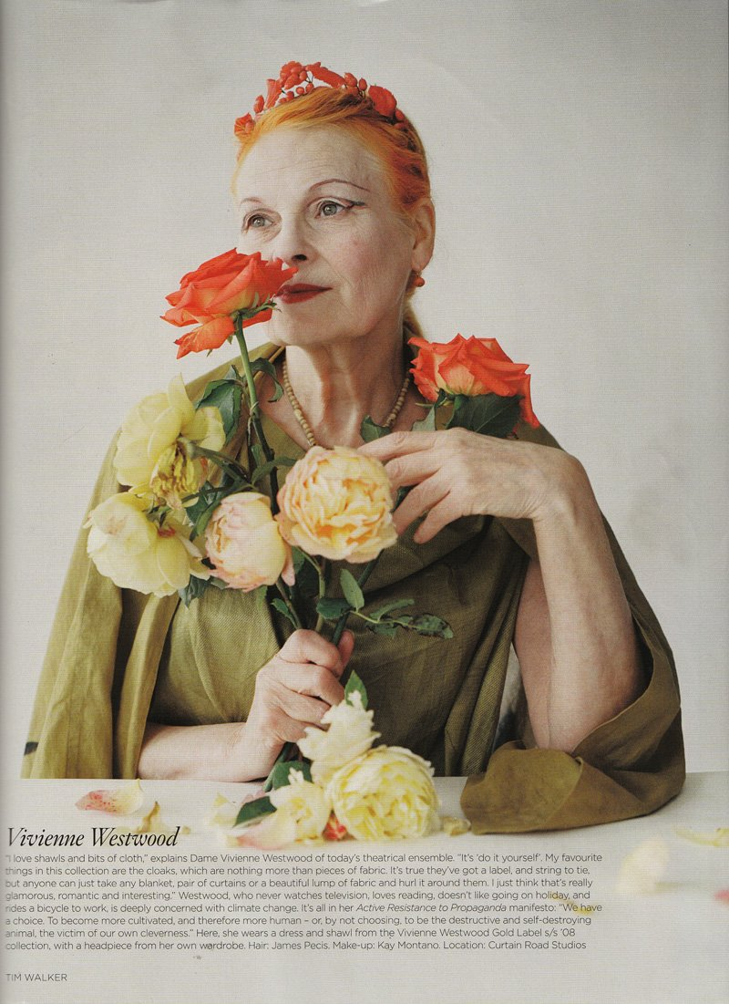 Vivienne Westwood em designer de moda mundo fashion