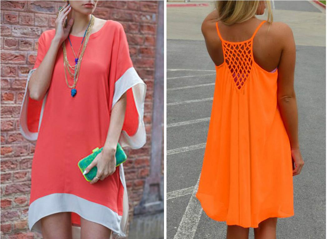 Vestido laranja para Reveillon
