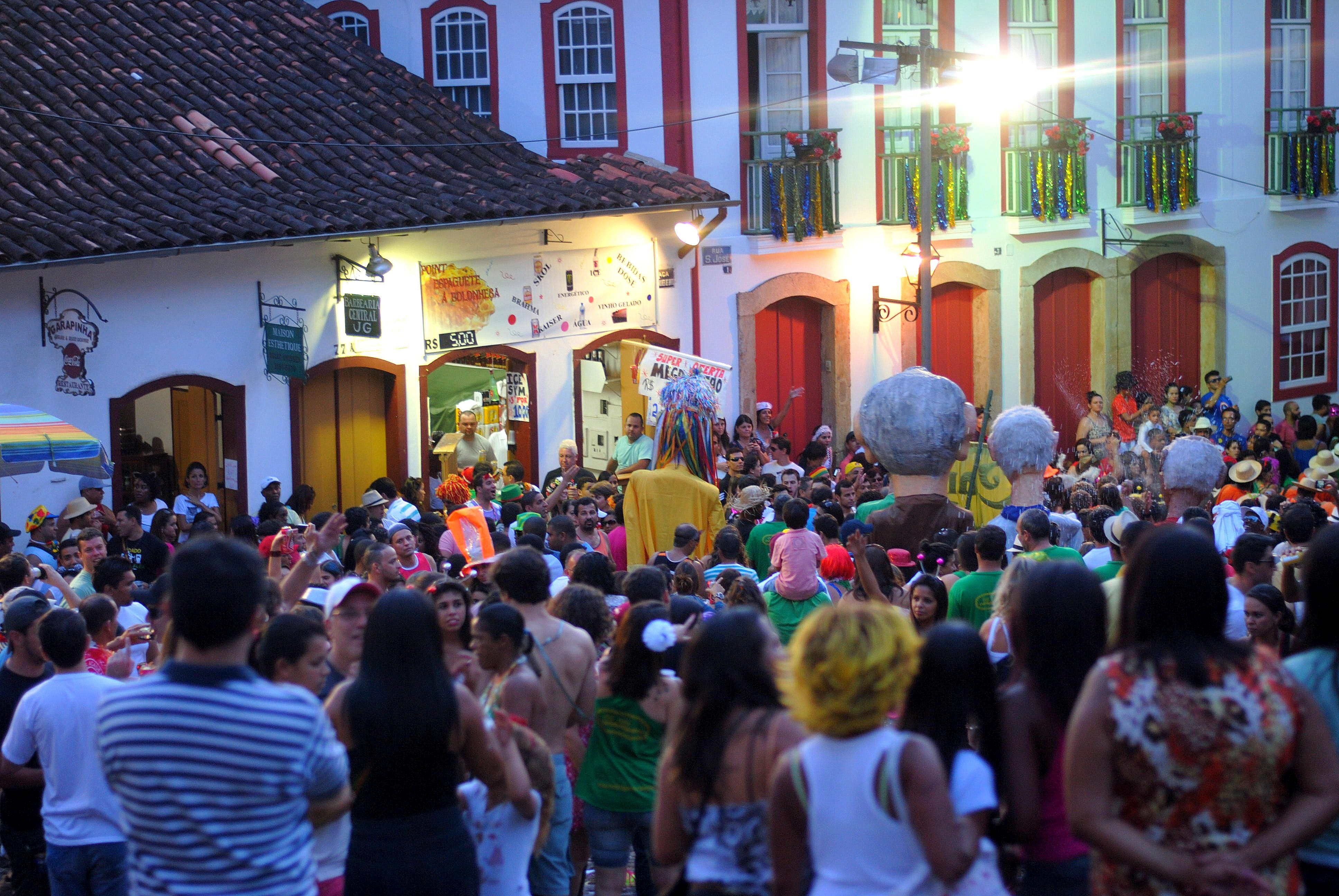 Carnaval de rua em Minas Gerais