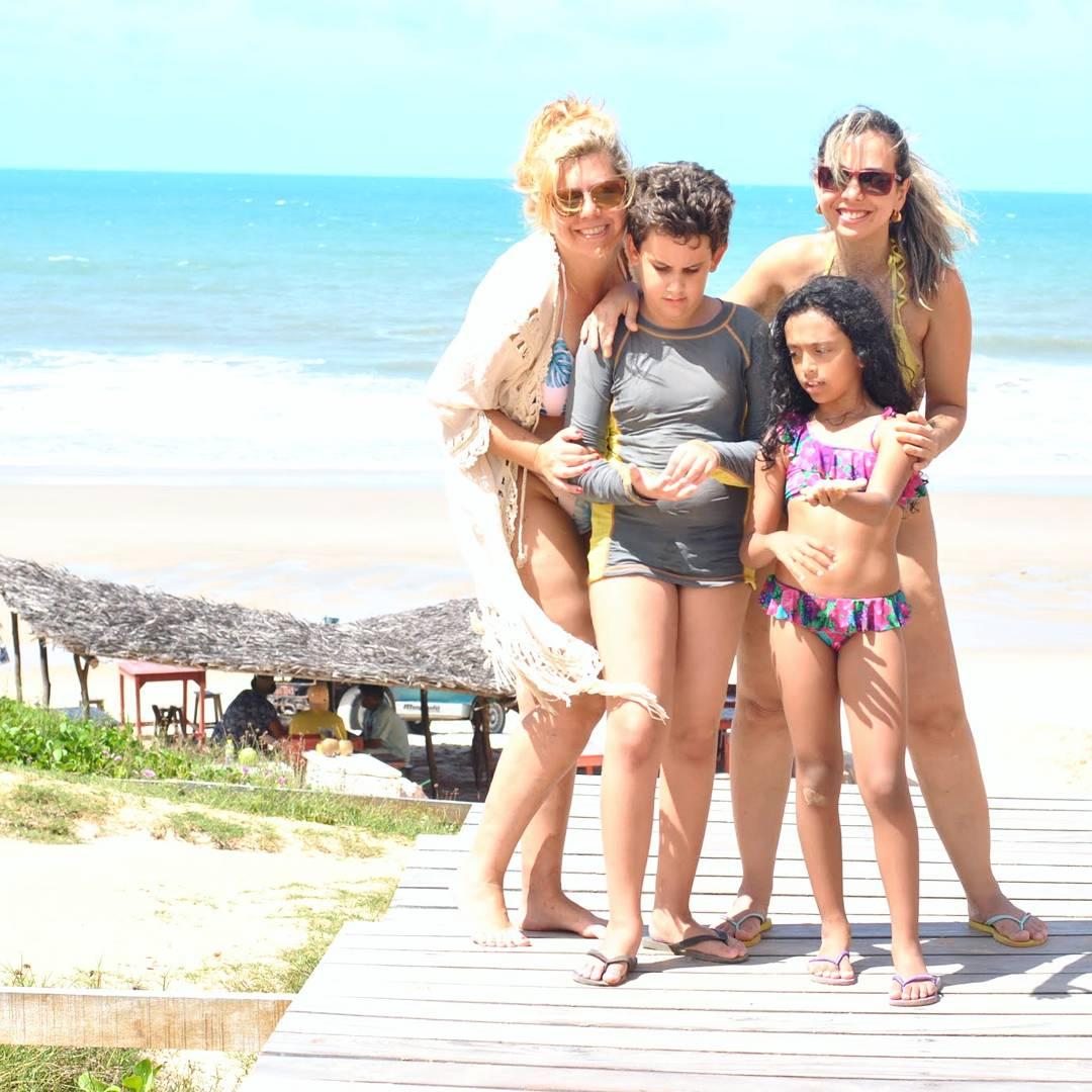 Praia de Morro Branco passeio de Bugy com crianças